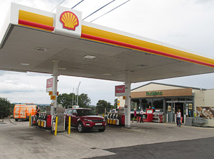 Budgens/Shell Petrol Filling Station, A37, Lydford-On-Fosse, Somerset