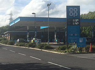 Co-Op Petrol Filling Station, Gosforth, Newcastle Upon Tyne